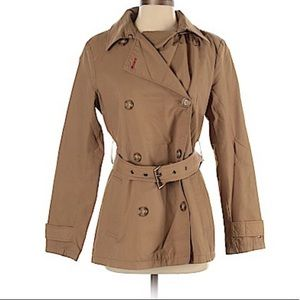 Tan Tommy Hilfiger Short Trench Coat